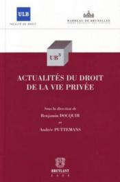 Actualités du droit de la vie privée - Couverture - Format classique