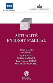 Actualité en droit familial - Couverture - Format classique