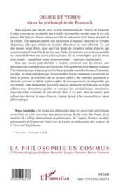 Ordre et temps ; dans la philosophie de Foucault - 4ème de couverture - Format classique