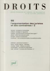 Revue Droits N.55 ; L'Augmentation Des Juristes Et Ses Contraintes T.2 - Couverture - Format classique