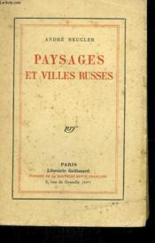 Paysages Et Villes Russes. - Couverture - Format classique