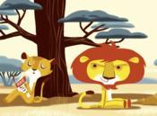 L'histoire du lion qui ne savait pas compter - Couverture - Format classique