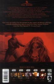Star wars - dark times t.5 ; feu sacré - 4ème de couverture - Format classique