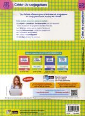 Cahier de conjugaison ; CE1, CE2 ; 7-9 ans ; entraînement méthodique à la conjugaison - 4ème de couverture - Format classique