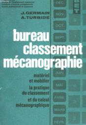 Bureau Classement Mecanographie - Couverture - Format classique
