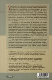 Le langage au bout des doigts - 4ème de couverture - Format classique