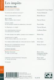 Revue Pouvoirs N.151 ; L'Impôt - 4ème de couverture - Format classique