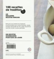 100 recettes de tradition - 4ème de couverture - Format classique