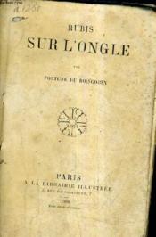 Rubis Sur L'Ongle. - Couverture - Format classique