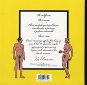La femme, leçons de choses - 4ème de couverture - Format classique