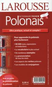 Larousse de poche ; polonais ; français-polonais / polonais-français - 4ème de couverture - Format classique
