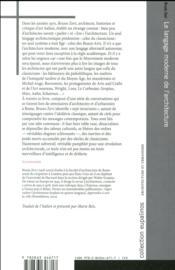 Le langage moderne de l'architecture ; pour une approche anticlassique - 4ème de couverture - Format classique