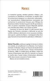 Marocs ; roman historique - 4ème de couverture - Format classique