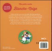Blanche-Neige - 4ème de couverture - Format classique