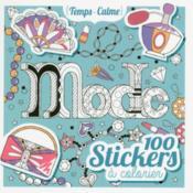100 stickers à colorier ; mode - Couverture - Format classique