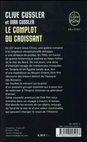 Le complot du croissant - 4ème de couverture - Format classique