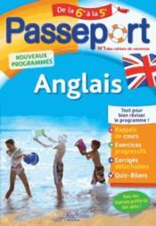 Passeport ; anglais ; de la 6e à la 5e - Couverture - Format classique