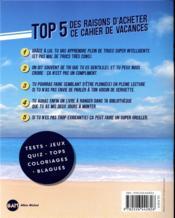 Le cahier de vacances Topito (édition 2019) - 4ème de couverture - Format classique