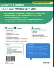 La boîte à outils ; de la gestion des conflits - 4ème de couverture - Format classique