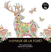 Happy coloriage ; animaux de la forêt ; mon carnet de coloriages et pensées 100 % bonne humeur ! - Couverture - Format classique