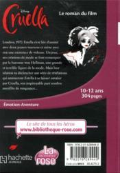 Cruella, le roman du film - 4ème de couverture - Format classique