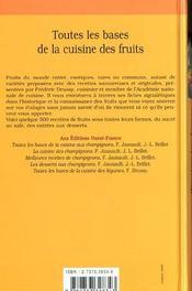 Toutes les bases de la cuisine des fruits - 4ème de couverture - Format classique