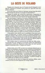 Geste De Roland Tome2 Espaces,Textes,Pouvoirs - 4ème de couverture - Format classique