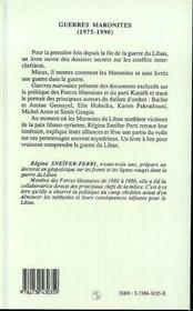 Guerres Maronites, 1975-1990 - 4ème de couverture - Format classique