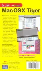 Mac Os X Tiger - 4ème de couverture - Format classique