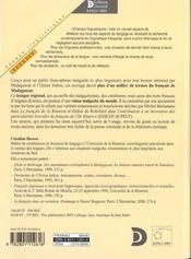 Francais de madagascar (le) (édition 2000) - 4ème de couverture - Format classique