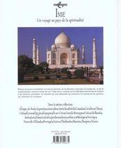 Inde - 4ème de couverture - Format classique