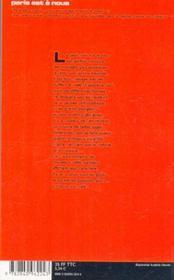 A Chacun Son Café. Philo, Psy, Cyber, Shopping, Expo, Musique, Design... Les Cafés Thématiques De Paris - 4ème de couverture - Format classique