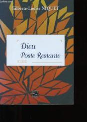 Dieu Poste Restante - Couverture - Format classique