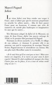 Jofroi - 4ème de couverture - Format classique