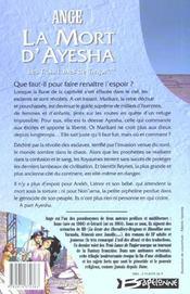 Ayesha t.3 ; la mort d'Ayesha - 4ème de couverture - Format classique