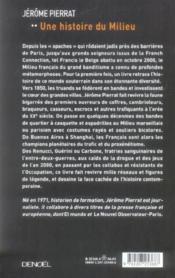 Une histoire du milieu ; grand banditisme et haute pègre en France de 1850 à nos jours - Couverture - Format classique