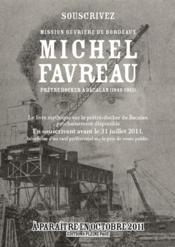 Michel Favreau ; prêtre docker à Bacalan (1949-1951) - Couverture - Format classique