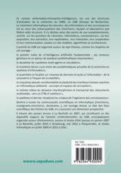 Information interaction intelligence ; le point sur le i(3) - 4ème de couverture - Format classique