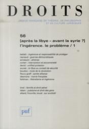 Revue Droits N.56 ; L'Ingérence, Le Problème T.1 - Couverture - Format classique