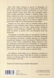 Athénée palace - 4ème de couverture - Format classique