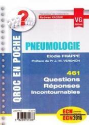 Qroc en poche pneumologie - Couverture - Format classique