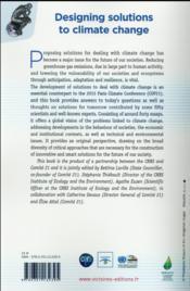 Designing solutions to climate change - 4ème de couverture - Format classique