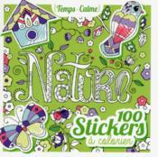 100 stickers à colorier ; nature - Couverture - Format classique
