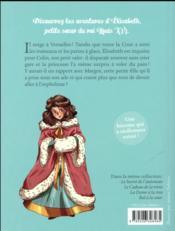 Elisabeth, princesse à Versailles T.5 ; le traîneau doré - 4ème de couverture - Format classique