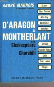 D'Argon A Montherlantet De Shakepeare A Churchill - Couverture - Format classique