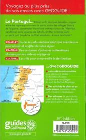 GEOGUIDE ; Portugal - 4ème de couverture - Format classique