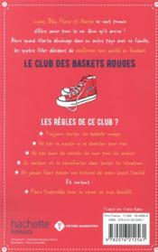 Le club des baskets rouges T.1 ; amies pour la vie - 4ème de couverture - Format classique
