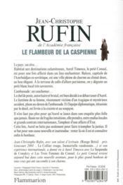Les énigmes d'Aurel le consul T.3 ; le flambeur de la Caspienne - 4ème de couverture - Format classique