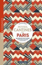 Petites cantines de Paris - Couverture - Format classique