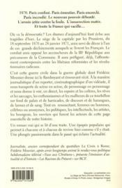 Le siège de Paris - 4ème de couverture - Format classique